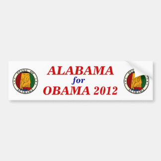 ALABAMA for Obama 2012 sticker