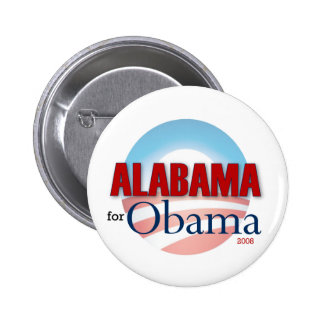 Alabama for Obama Button