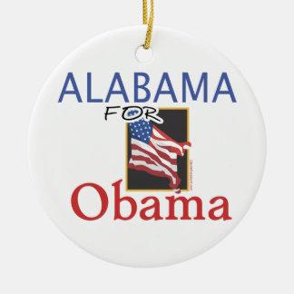Alabama for Obama Election Ceramic Ornament