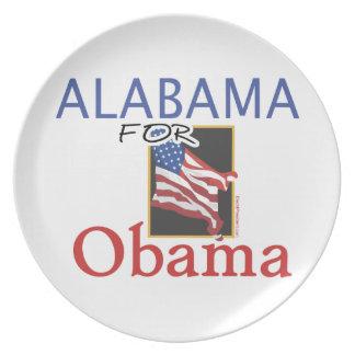 Alabama for Obama Election Dinner Plate