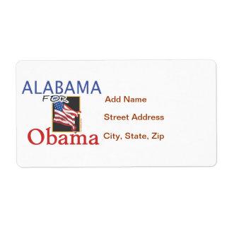 Alabama for Obama Election Label