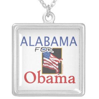Alabama for Obama Election Square Pendant Necklace