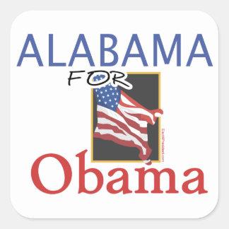 Alabama for Obama Election Square Sticker