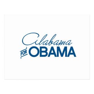 ALABAMA FOR OBAMA -.png Postcard