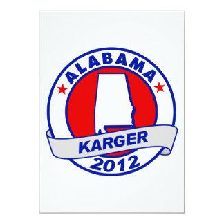 Alabama Fred Karger 5x7 Paper Invitation Card