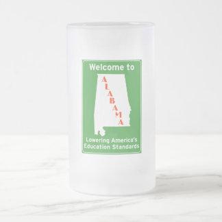 Alabama Frosted Glass Beer Mug