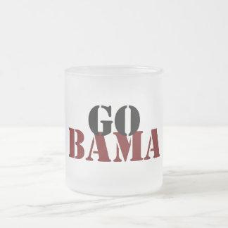 Alabama Frosted Glass Coffee Mug