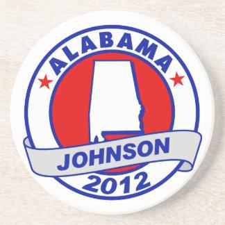 Alabama Gary Johnson Beverage Coaster