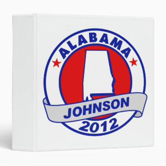 Alabama Gary Johnson Binders