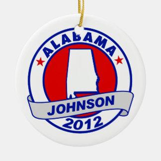 Alabama Gary Johnson Christmas Tree Ornaments