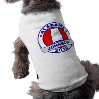 Alabama Gary Johnson Doggie Tee Shirt