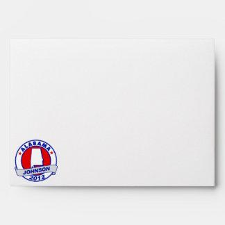 Alabama Gary Johnson Envelopes