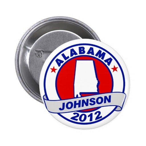 Alabama Gary Johnson Pinback Button