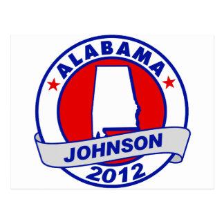Alabama Gary Johnson Postcard