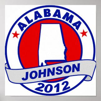 Alabama Gary Johnson Print
