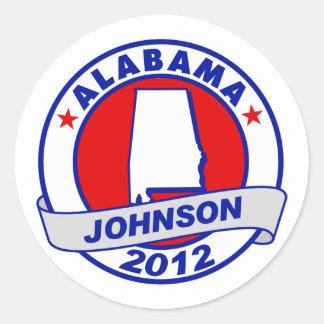 Alabama Gary Johnson Round Sticker