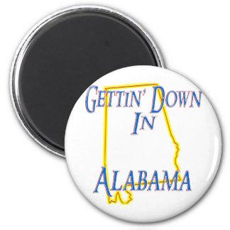 Alabama - Getting abajo Imán Redondo 5 Cm