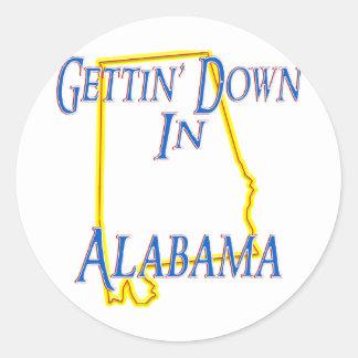 Alabama - Getting abajo Pegatina Redonda
