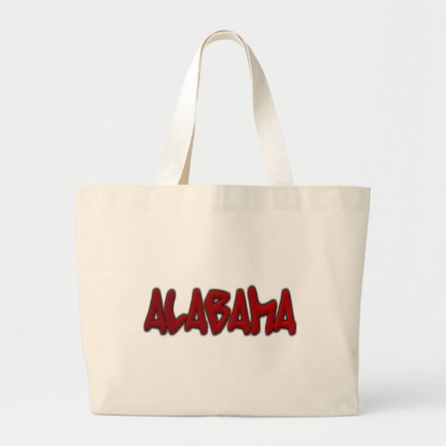 Alabama Graffiti Large Tote Bag