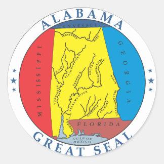 Alabama great seal classic round sticker