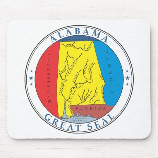 Alabama great seal mouse pad