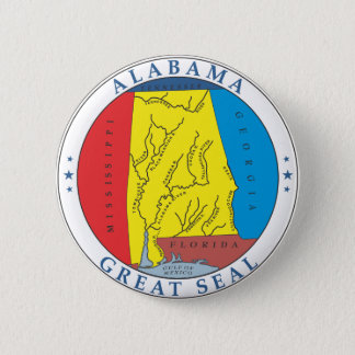 Alabama great seal pinback button