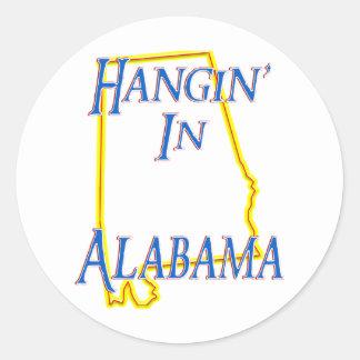 Alabama - Hangin' Classic Round Sticker