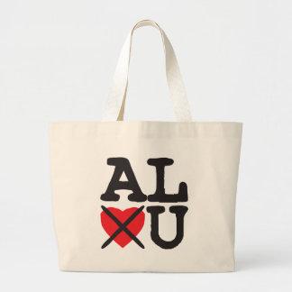 Alabama Hates You Large Tote Bag