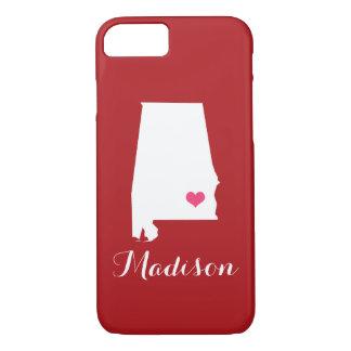 Alabama Heart Maroon Custom Monogram iPhone 7 Case