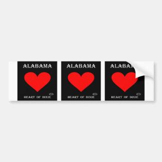 Alabama Heart of Dixie (Black) Bumper Sticker