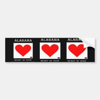 Alabama Heart of Dixie Bumper Sticker