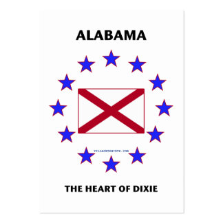 Alabama Heart of Dixie Large Business Cards (Pack Of 100)