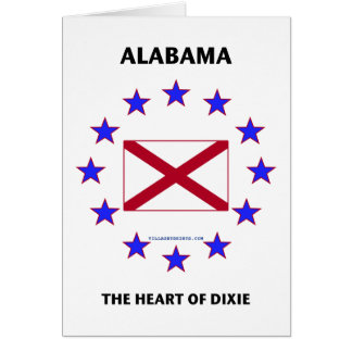 Alabama Heart of Dixie Stationery Note Card