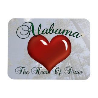 Alabama Heart Of Dixie Flexible Magnet