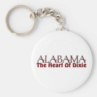 Alabama heart of Dixie keychains