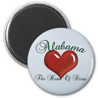 Alabama Heart Of Dixie Magnet