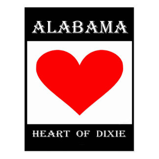 Alabama Heart of Dixie Postcard