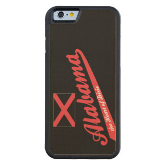 Alabama Heart of Dixie Saying Carved Maple iPhone 6 Bumper Case