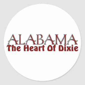 Alabama heart of Dixie stickers