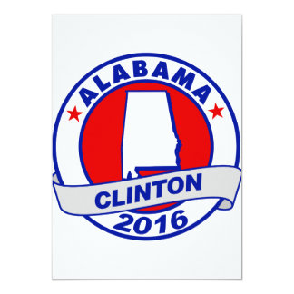 """Alabama Hillary Clinton 2016.png Invitación 5"""" X 7"""""""