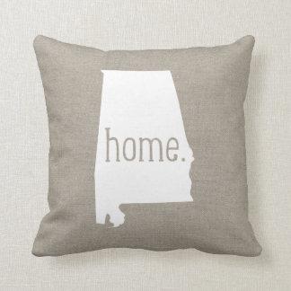 Alabama Home State Throw Pillow