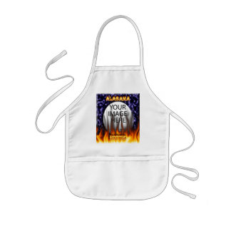 Alabama Hottie fire and flames blue marble. Kids' Apron
