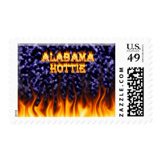 Alabama Hottie fire and flames blue marble Stamps