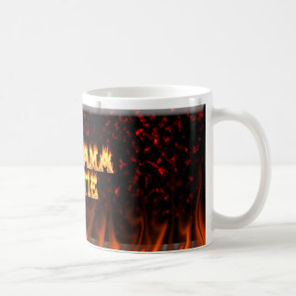 Alabama Hottie fire and flames Red marble Classic White Coffee Mug
