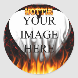 Alabama hottie fire and flames red marble sticker