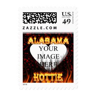Alabama Hottie flamea franqueo de mármol rojo