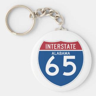 Alabama I-65 Interstate Highway Shield - AL Basic Round Button Keychain