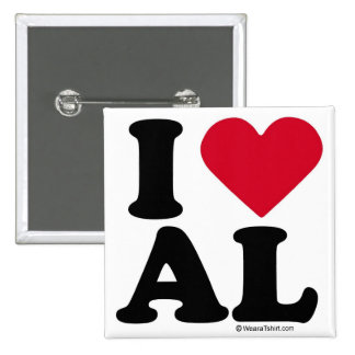 ALABAMA - I LOVE AL - I LOVE ALABAMA PINS