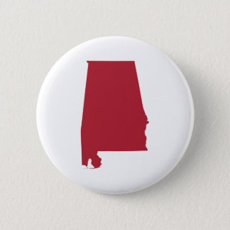 Alabama in Red Pinback Button
