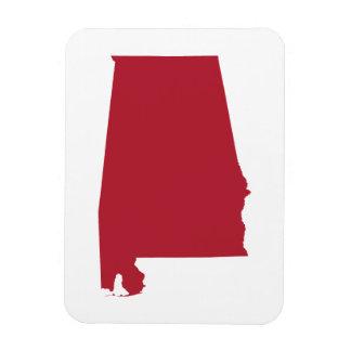 Alabama in Red Rectangular Photo Magnet